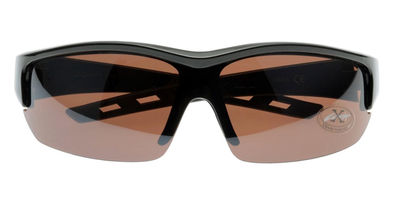 スポーツサングラス(Sports Sunglasses) スポーツサングラス X-LOOP-3593-BlackBrown