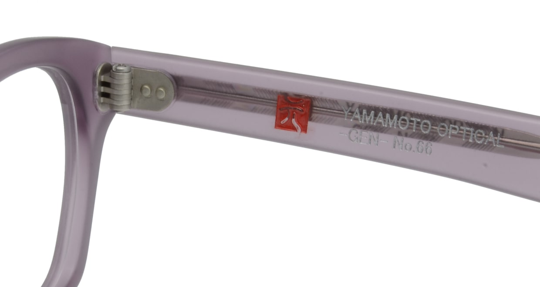 元 GEN66-Purple Matte [鯖江産/スクエア/紫]  4