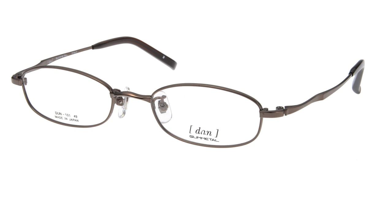 ドゥアン D101-3 [メタル/鯖江産/スクエア/茶色]