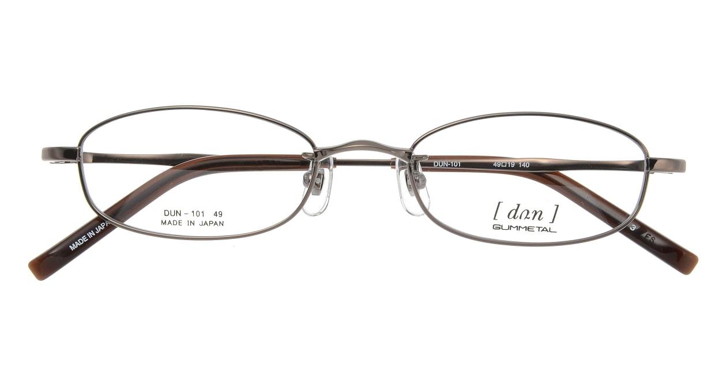 ドゥアン D101-3 [メタル/鯖江産/スクエア/茶色]  3