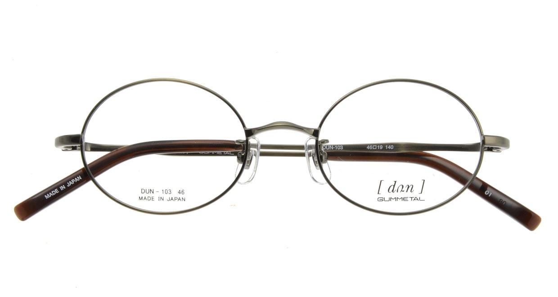 ドゥアン DUN103-01 [メタル/鯖江産/オーバル/グレー]  3