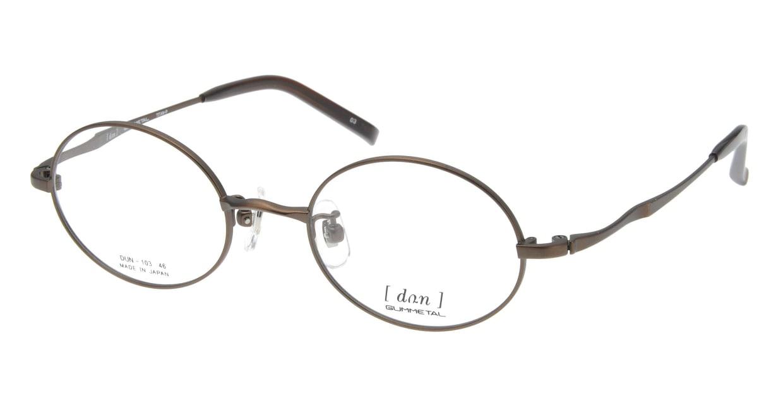 ドゥアン D103-03 [メタル/鯖江産/オーバル/茶色]