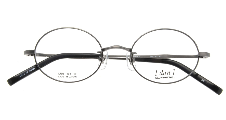 ドゥアン D103-05 [メタル/鯖江産/オーバル/グレー]  3
