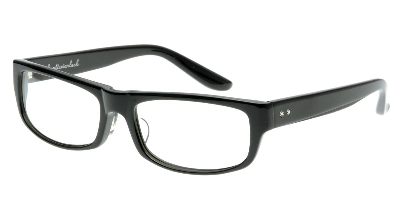 オウル opticwarlock GL002 Noble-1.BLACK LENS-CLEAR [黒縁/スクエア]