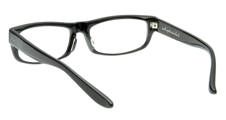 オウル opticwarlock GL002 Noble-1.BLACK LENS-CLEAR [黒縁/スクエア]  2