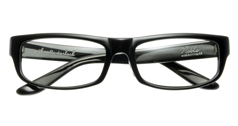オウル opticwarlock GL002 Noble-1.BLACK LENS-CLEAR [黒縁/スクエア]  3