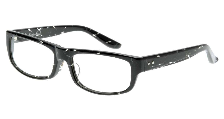 オウル opticwarlock GL002 Noble-2.BLACK MARBLE [黒縁/スクエア]