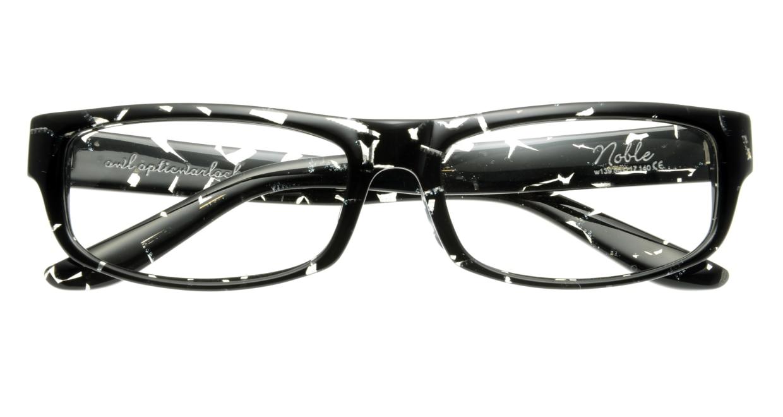 オウル opticwarlock GL002 Noble-2.BLACK MARBLE [黒縁/スクエア]  3