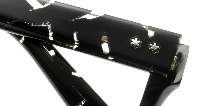 オウル opticwarlock GL002 Noble-2.BLACK MARBLE [黒縁/スクエア]  4