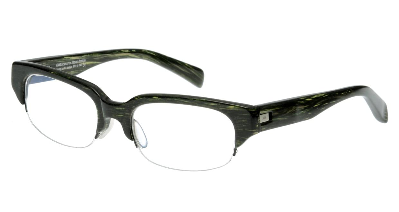オウル boasorte BS026SP tuebor-3.GREEN DEMI [ハーフリム/スクエア/緑]
