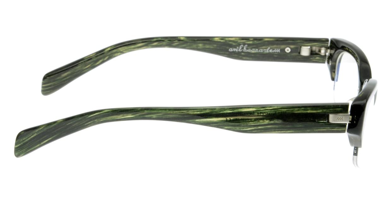 オウル boasorte BS026SP tuebor-3.GREEN DEMI [ハーフリム/スクエア/緑]  1
