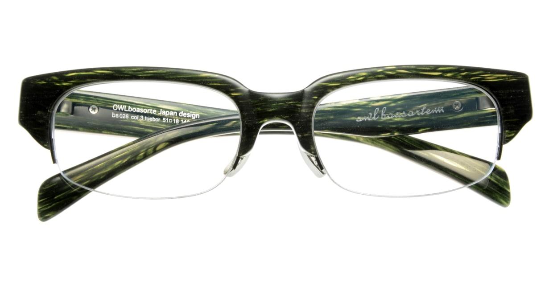 オウル boasorte BS026SP tuebor-3.GREEN DEMI [ハーフリム/スクエア/緑]  3
