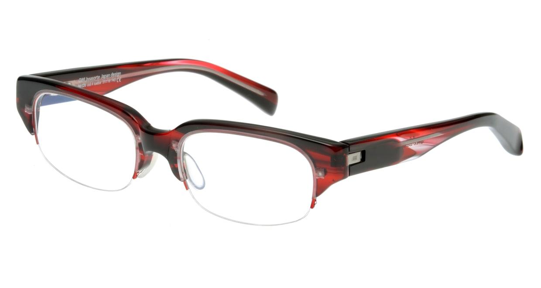オウル boasorte BS026SP tuebor-4.RED DEMI [ハーフリム/スクエア/赤]