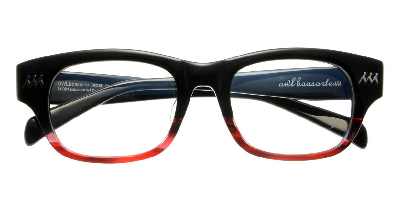 オウル boasorte BS021 zorozoro-1.BLACK-RED [黒縁/ウェリントン]  3