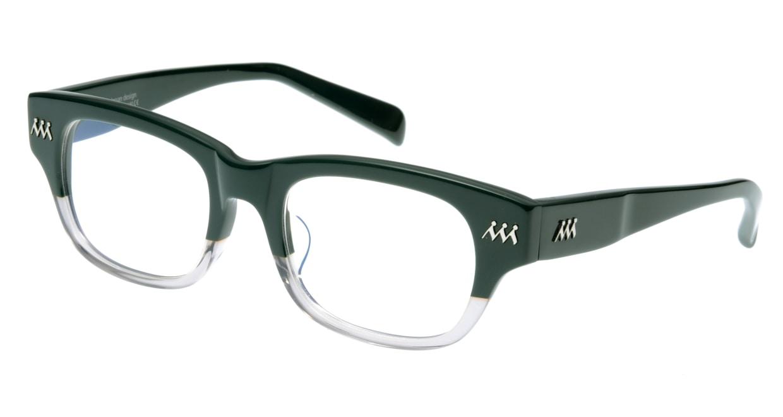 オウル boasorte BS021 zorozoro-2.GREEN-GREY [ウェリントン/緑]