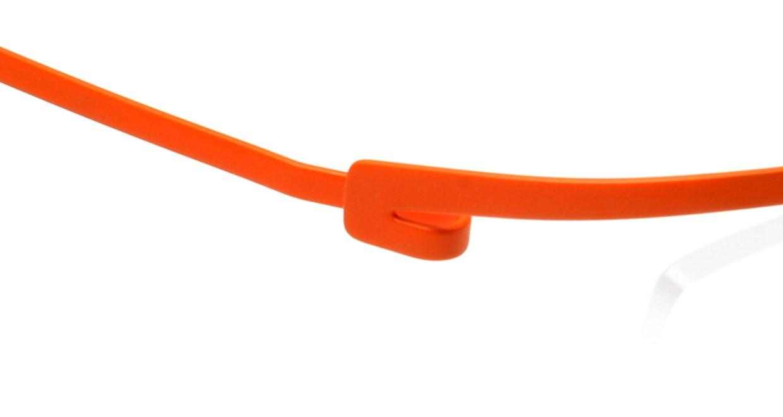 オンビート ONB-307-OR-57 [メタル/鯖江産/ハーフリム/スクエア/オレンジ]  4