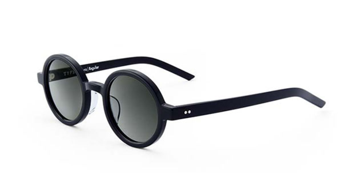 TYPE Futura Regular Black Sunglasses [鯖江産/ラウンド]  2