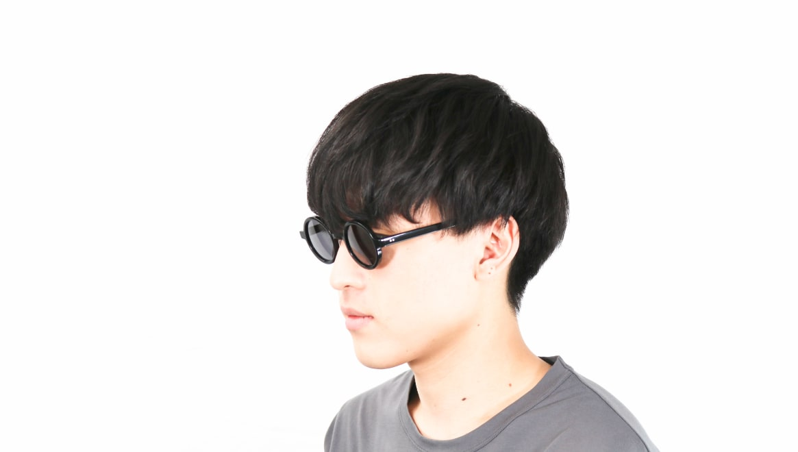 TYPE Futura Regular Black Sunglasses [鯖江産/ラウンド]  5