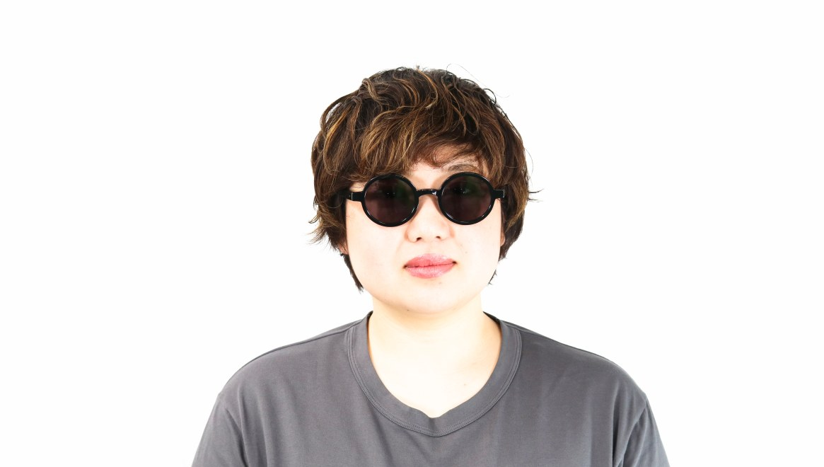 TYPE Futura Regular Black Sunglasses [鯖江産/ラウンド]  6