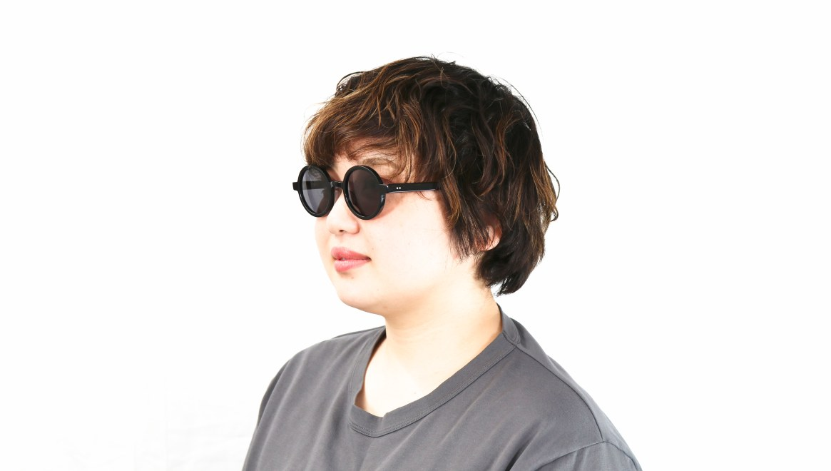 TYPE Futura Regular Black Sunglasses [鯖江産/ラウンド]  7