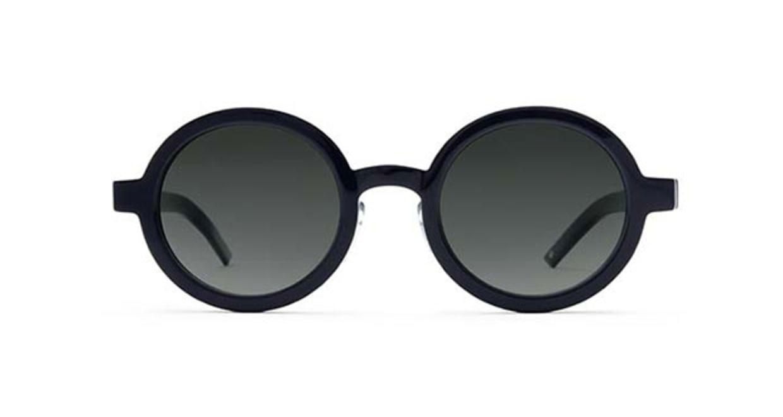 TYPE Futura Bold Black Sunglasses [鯖江産/ラウンド]