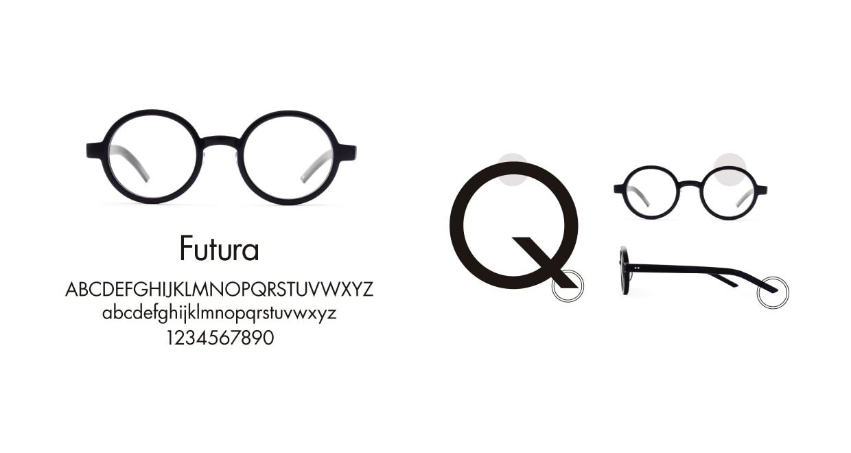 TYPE Futura Bold Black Sunglasses [鯖江産/ラウンド]  3