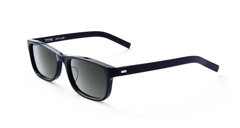 TYPE Din Light Black Sunglasses [鯖江産/ウェリントン]  2