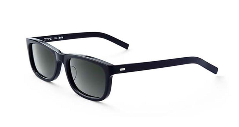 TYPE Din Bold Black Sunglasses [鯖江産/ウェリントン]  2
