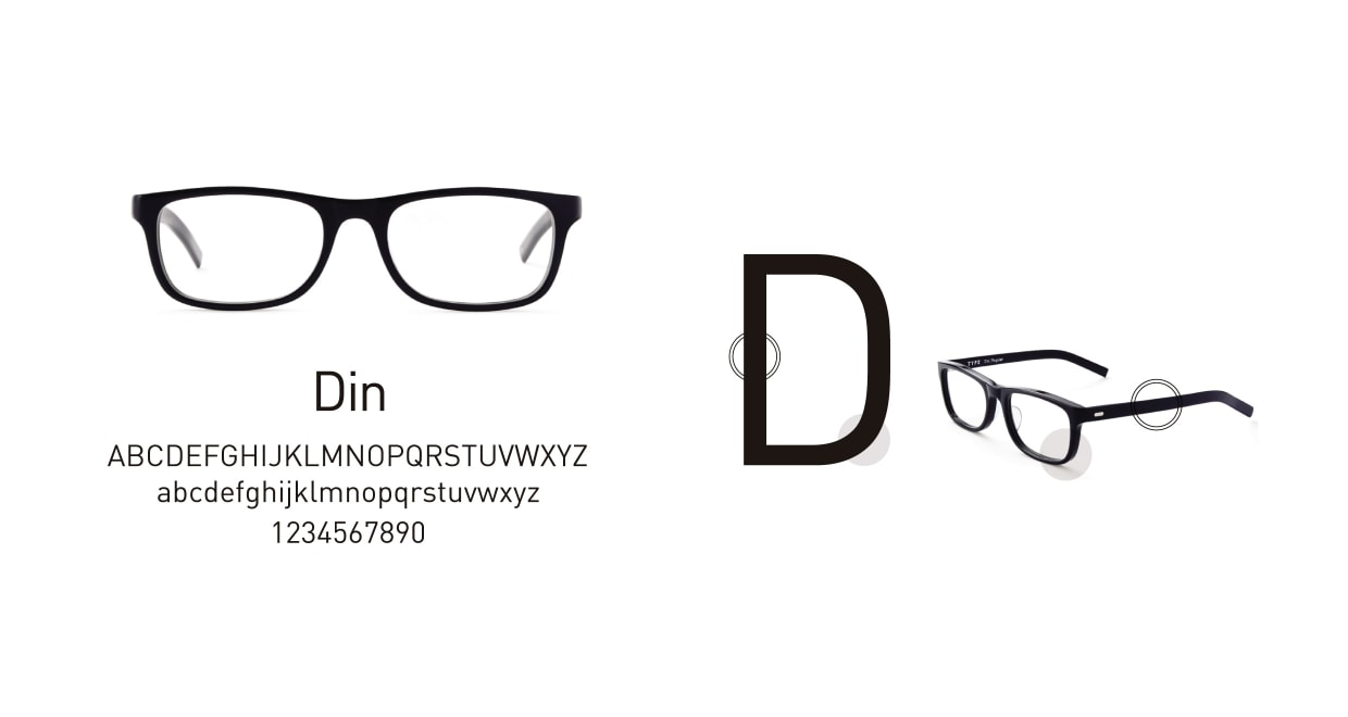 TYPE Din Bold Clear Sunglasses [鯖江産/ウェリントン]  3