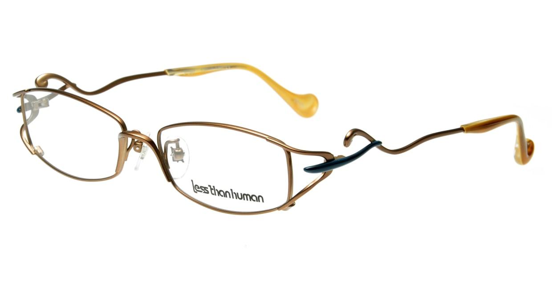 レスザンヒューマン Poet-9610 [メタル/鯖江産/スクエア/茶色]