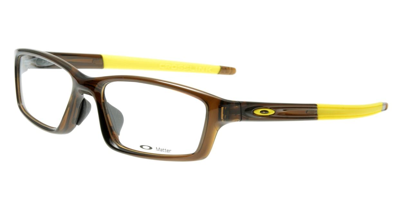 オークリー CROSSLINK PITCH OX8041-0356 [スクエア/茶色]