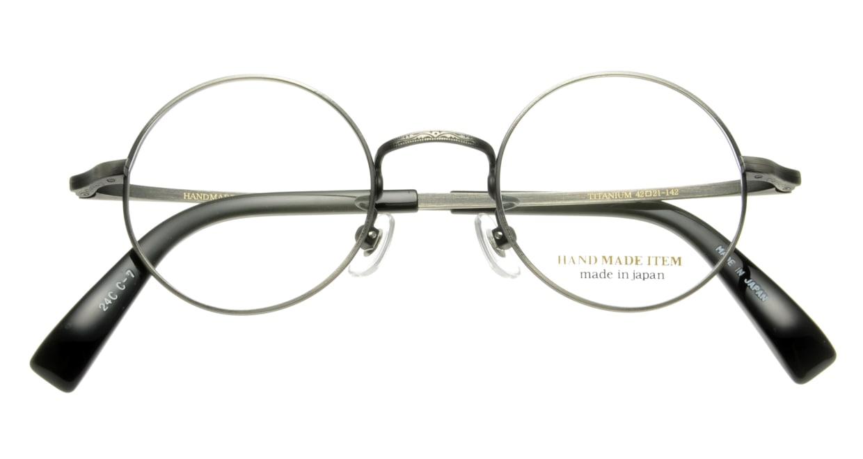 ハンドメイドアイテム H-3001-C-7-42 [メタル/鯖江産/丸メガネ/シルバー]  3