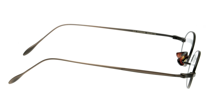 ハンドメイドアイテム H-430-C-6-46 [メタル/鯖江産/オーバル/茶色]  1