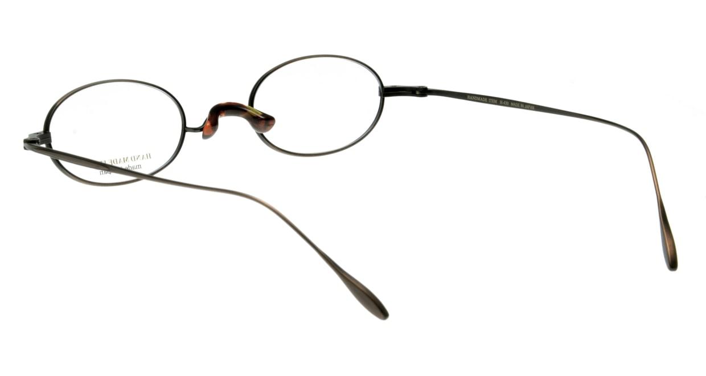 ハンドメイドアイテム H-430-C-6-46 [メタル/鯖江産/オーバル/茶色]  2