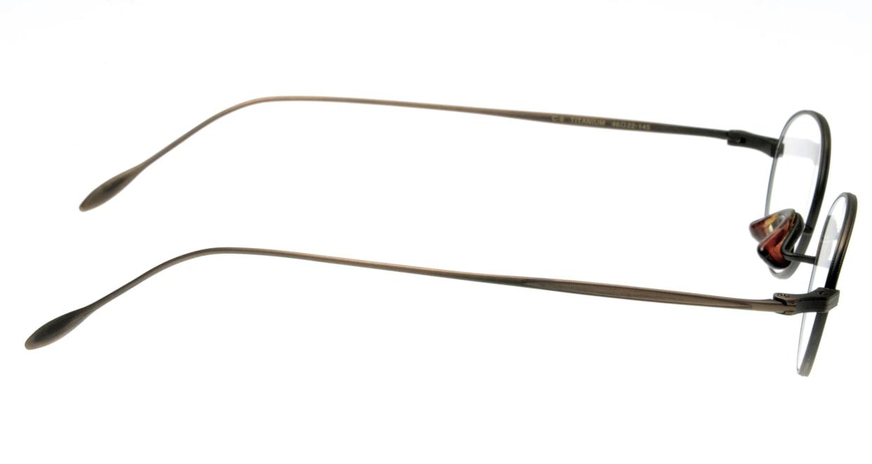 ハンドメイドアイテム H-429-C-6-46 [メタル/鯖江産/丸メガネ/茶色]  1