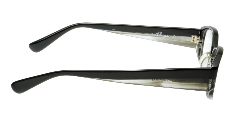 オウル boasorte Lycka-BS023-1.BLACK-GRAY DEMI [黒縁/スクエア]  1
