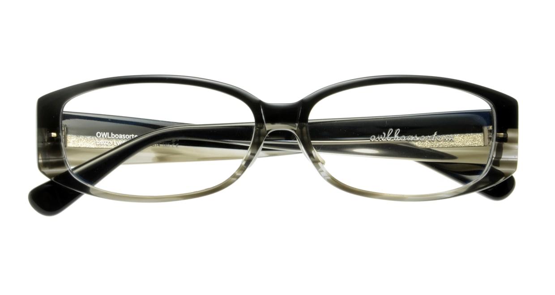 オウル boasorte Lycka-BS023-1.BLACK-GRAY DEMI [黒縁/スクエア]  3