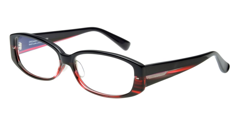 オウル boasorte Lycka-BS023-2.PURPLE-RED DEMI [スクエア/紫]