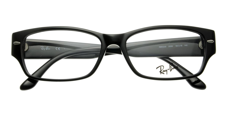 レイバン RX5220-2000-55 [黒縁/スクエア]  3