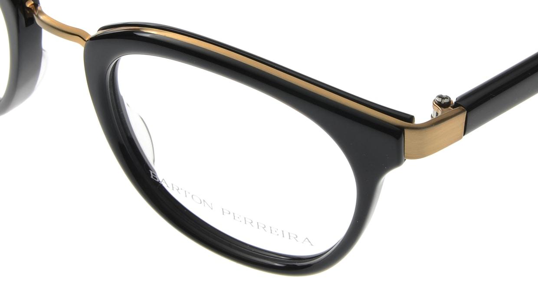 バートンペレイラ PAULINA-BLACK-BRUSHED GOLD [黒縁/鯖江産/ウェリントン]  4