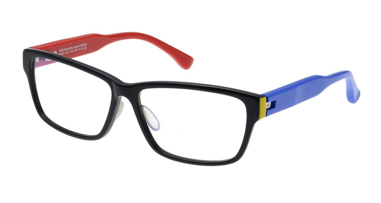 オウル boasorte Stijl-BS030SP-5.RED&BLUE [黒縁/ウェリントン]
