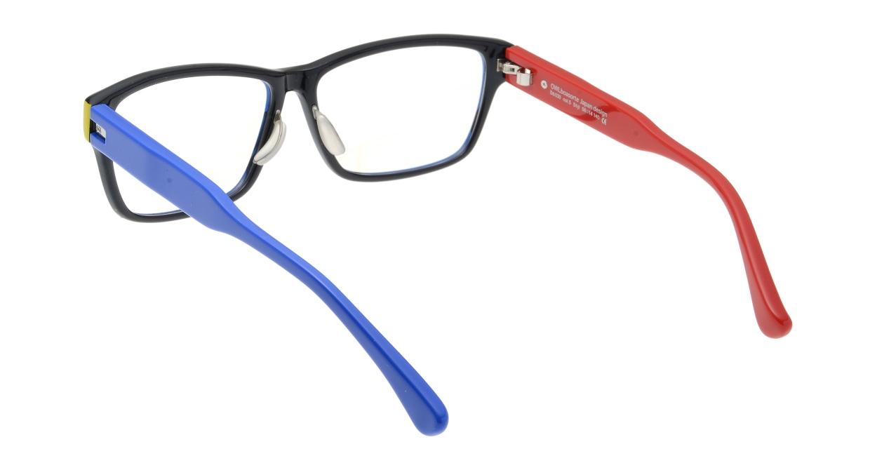オウル boasorte Stijl-BS030SP-5.RED&BLUE [黒縁/ウェリントン]  2