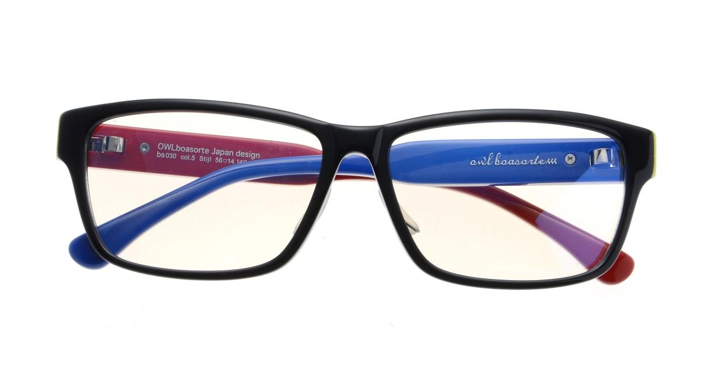 オウル boasorte Stijl-BS030SP-5.RED&BLUE [黒縁/ウェリントン]  3