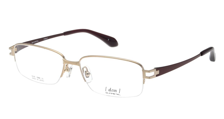 ドゥアン DUN-2068-1 [メタル/鯖江産/ハーフリム/スクエア/ゴールド]
