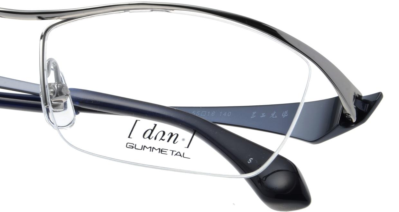 ドゥアン DUN-2070-5 [メタル/鯖江産/ハーフリム/スクエア/グレー]  4