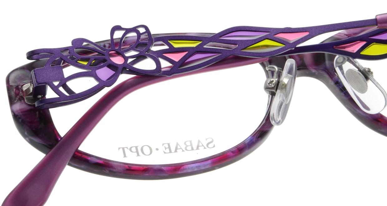 サバエオプト SOP020-VI [鯖江産/オーバル/紫]  4