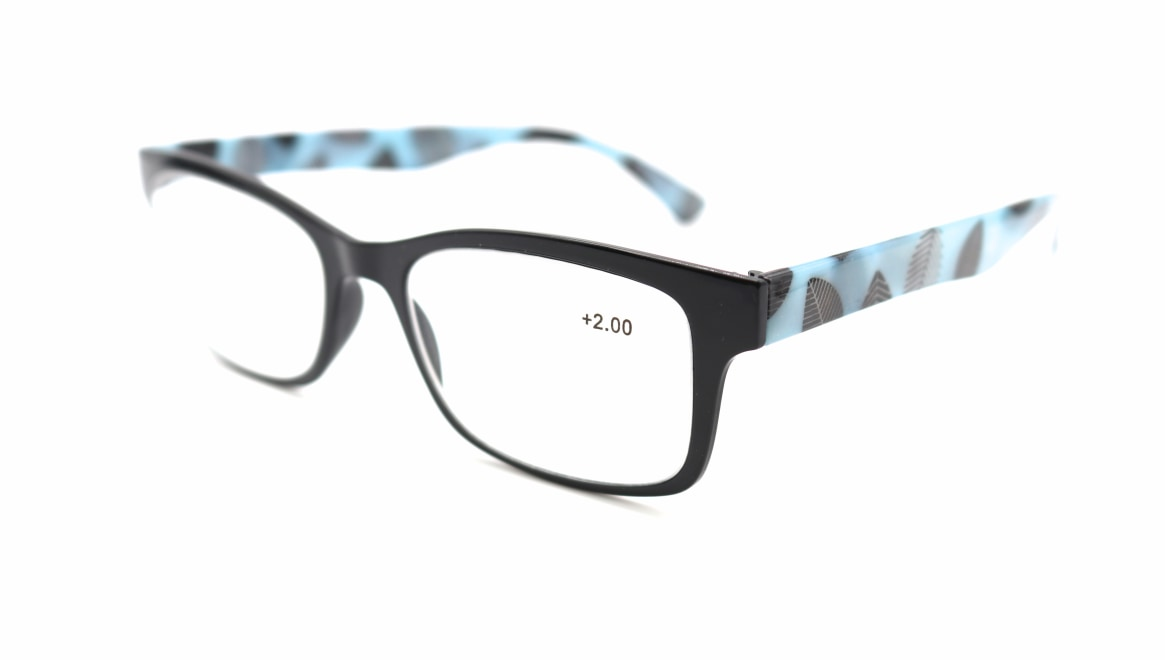 レンテ LT-4202-3 +2.00 [黒縁/ウェリントン/安い]  1