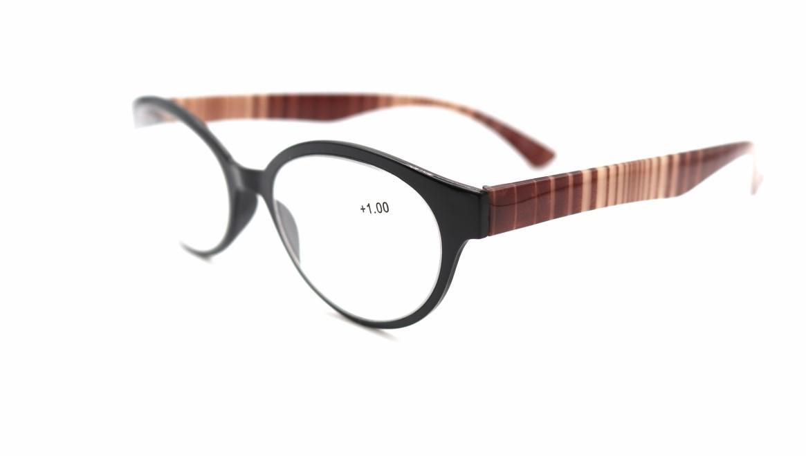 レンテ LT-4203-2 +1.00 [黒縁/丸メガネ/安い]  1