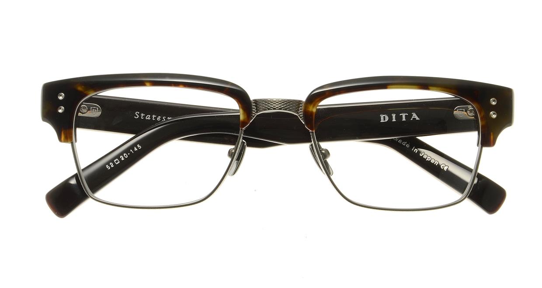 ディータ STATESMAN DRX-2011B-52 [メタル/鯖江産/ウェリントン/べっ甲柄]  3