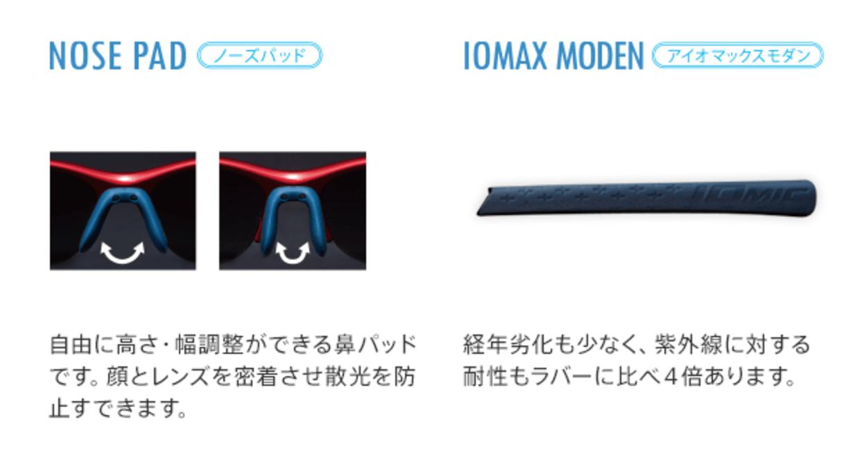 イオミック IS-102 WAVE SERIES TYPE-A-WE-0212 偏光レンズ [鯖江産/ハーフリム/スクエア]  6